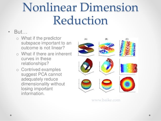 Review Of Methods For Dimension Reduction