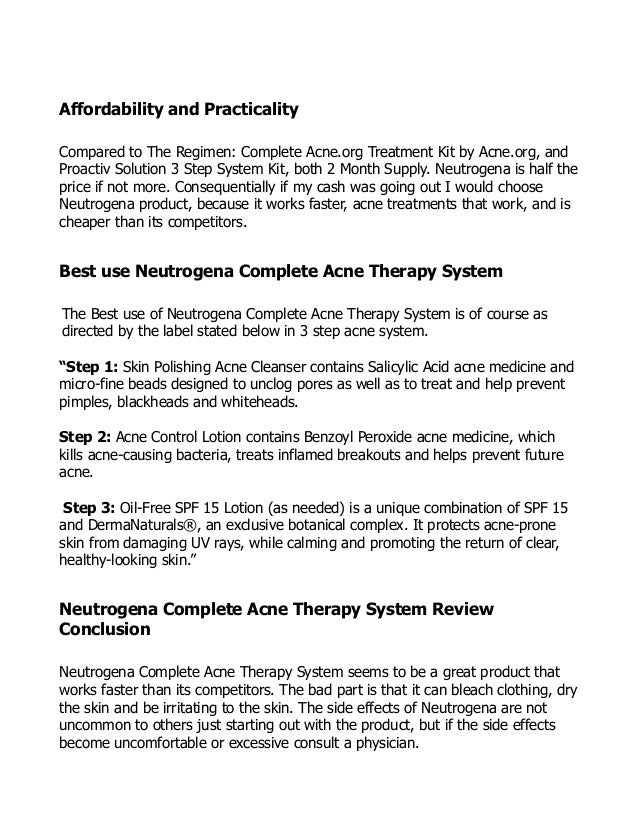 Neutrogena Complete Acne Therapy Kit Acne Product Review