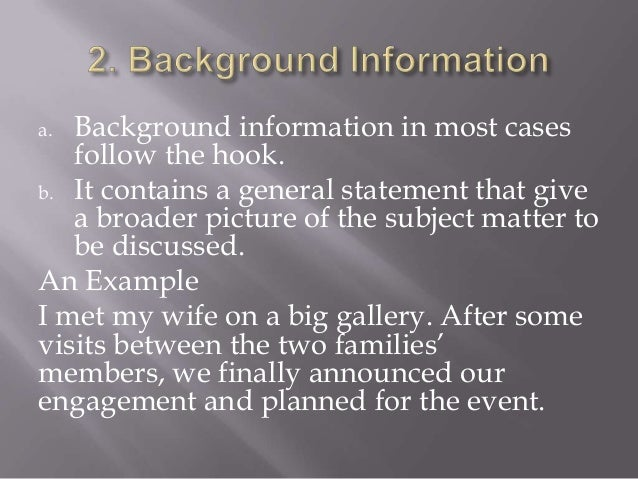 background information introduction essay samples image 5 - Background Essay Example