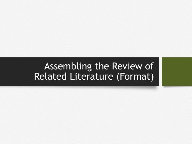 review on related literature apartment 26 220 review of related literature conducted in india review of the related literature conducted in india broadly categorized in to two categories.