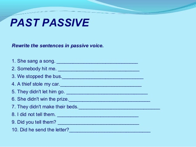 Review Of Tenses Exercises