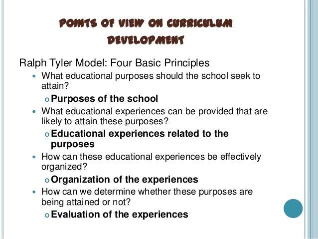 ralph tyler curriculum development model