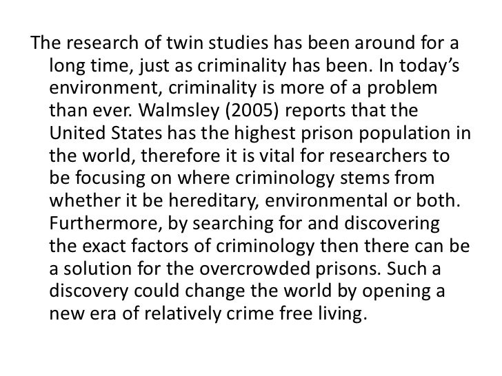 the causes of prison overcrowding criminology essay Essays - largest database of quality sample essays and research papers on prison overcrowding.