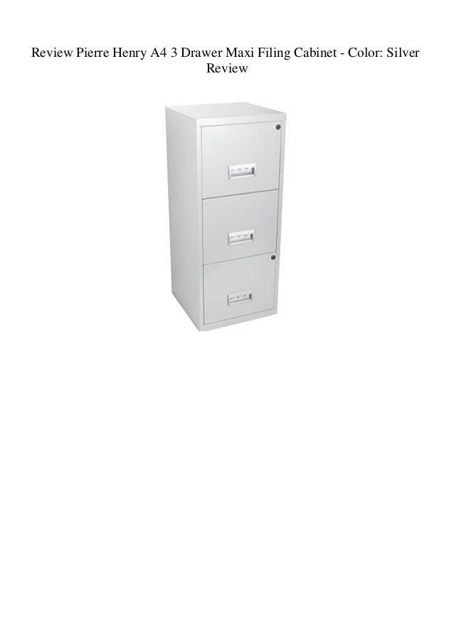 wholesale dealer 5604f d6de5 Review Pierre Henry A4 3 Drawer Maxi Filing Cabinet - Color ...