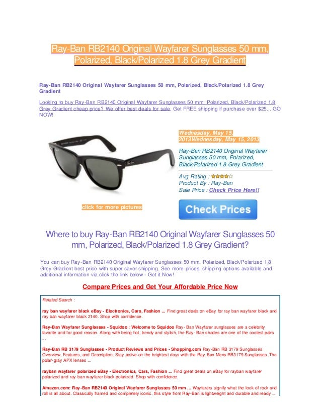 48a9c6913fd Review ray ban rb2140 original wayfarer sunglasses 50 mm