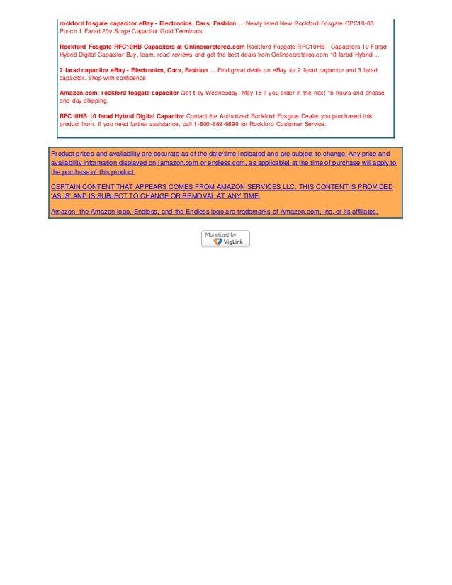 Review Rockford Fosgate 2 Farad Hybrid Digital Capacitor 20130515 123