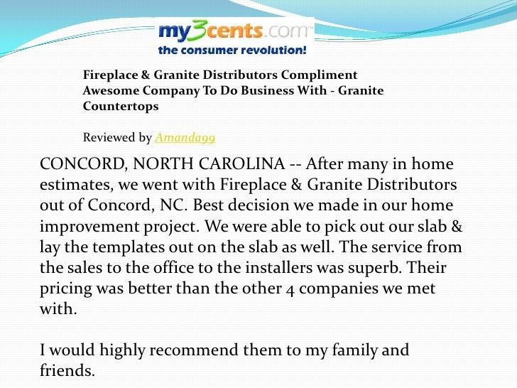 Fireplace and Granite Distributors Reviews