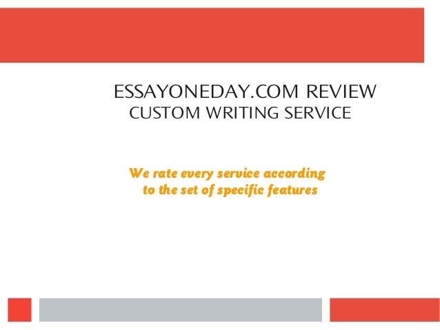 essay one day review