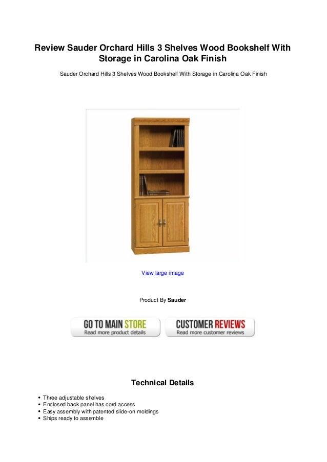 Review Sauder Orchard Hills 3 Shelves Wood Bookshelf WithStorage in Carolina Oak FinishSauder Orchard Hills 3 Shelves Wood...