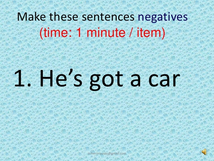 Review Simple Present Tense Slide 3