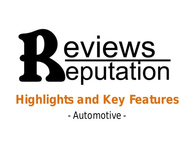Highlights and Key Features - Automotive -