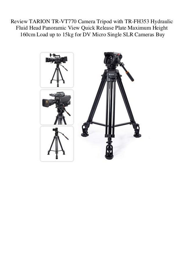 Review TARION TR-VT770 Camera Tripod with TR-FH353 Hydraulic