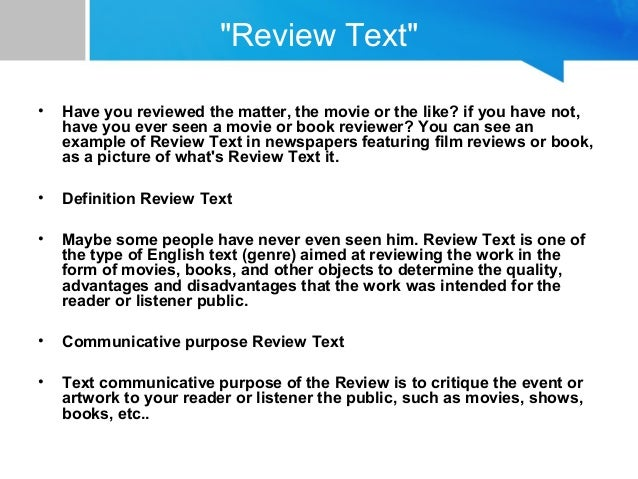 example review text