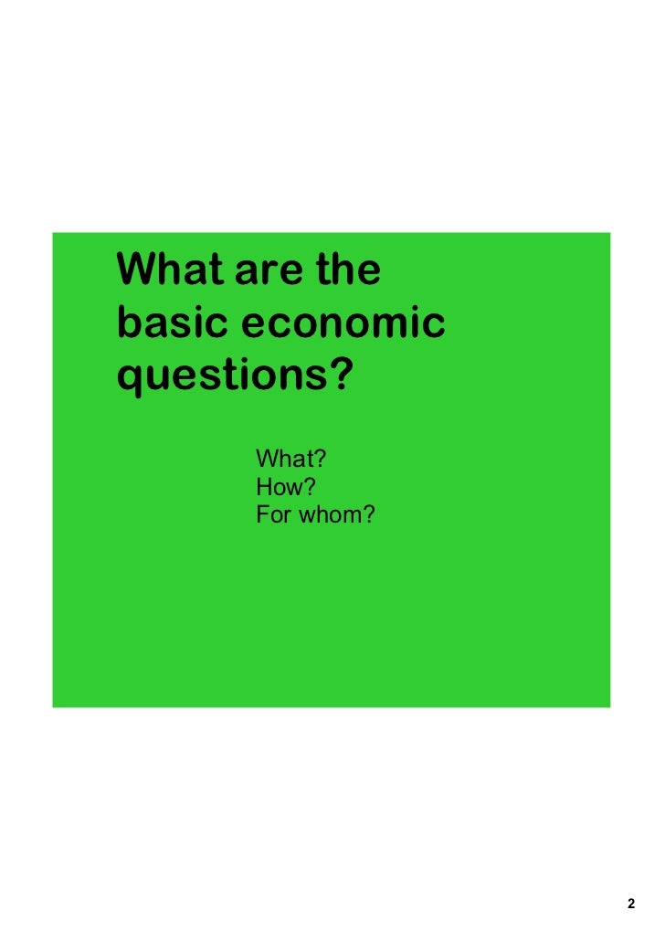 Economics unit 2 notes