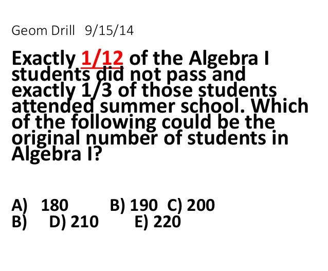Review w answers to 1 5 and 1-6 b