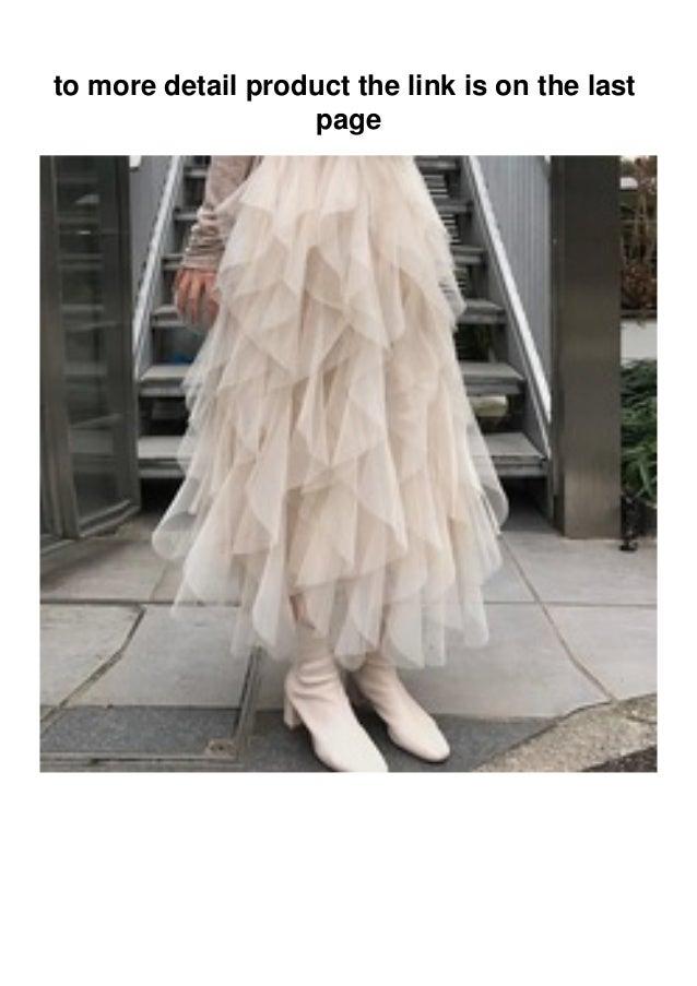 Review Women High Waist Tulle Pleated Ruffles Mesh Skirt Autumn New S