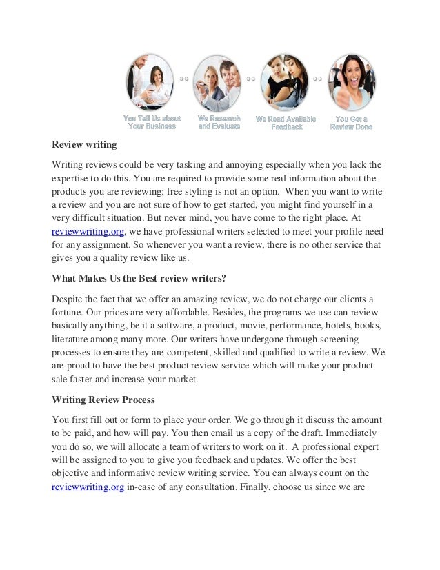 Product review writing service