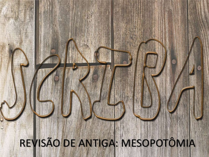 Revisao.mesopotamia