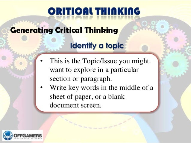 critical thinking paper — draft and self-evaluation Service management thesis critical thinking application paper draft and self evaluation 1 analysis essay topics introduction to persuasive essay.