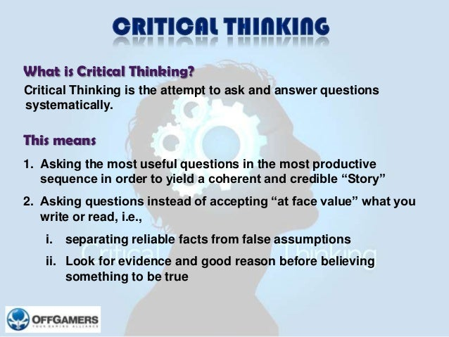 critical thinking business case studies Introduction to critical thinking means business a case study critical thinkers1 many business leaders also come up short.