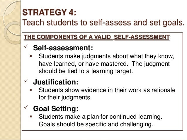 Revised using rubrics to facilitate self-assessment and self