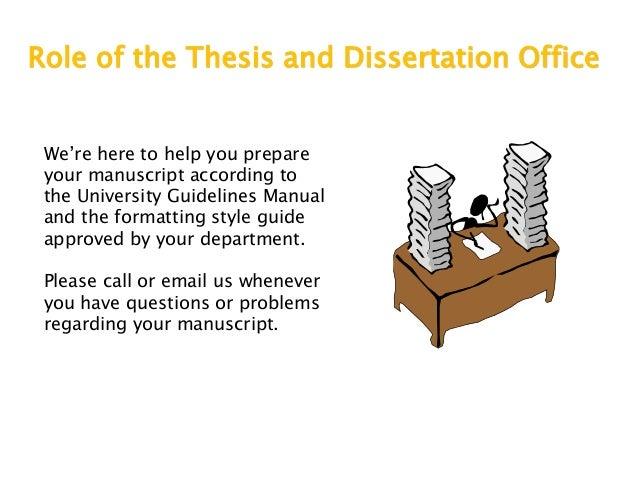Thesis and dissertation office csulb