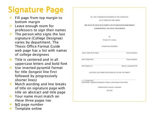 Csulb thesis signature page