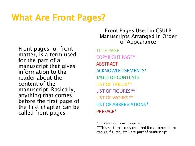csulb thesis signature page The signature page is not part of the thesis, project report or  please email lib- thesis@csulbedu if you have problems with the download.