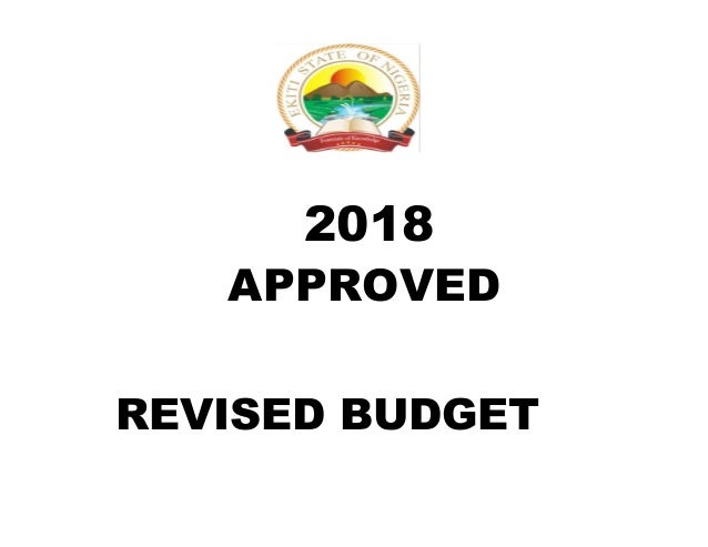 2018 FOR REVISED BUDGET APPROVED