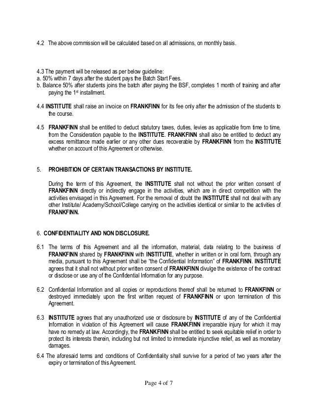 Revised Agreement Instit1ffective 1st Oct 2012
