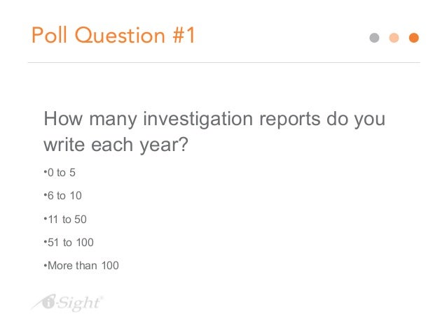 How Does One Write an Investigation Report?