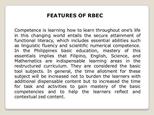 Rbec in the philippines