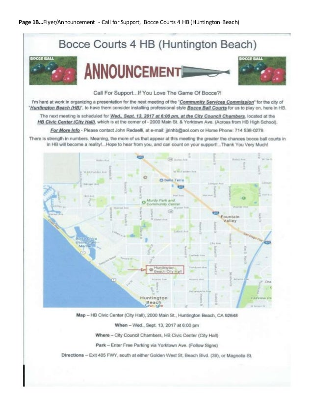 9/11/2017 Revised Bocce Courts 4 HB (Huntington Beach)