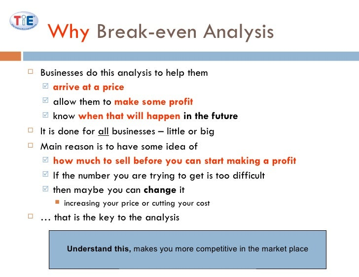 Marketing Ii: Break-Even Analysis