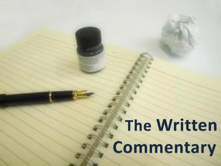 how to write an analytical commentary