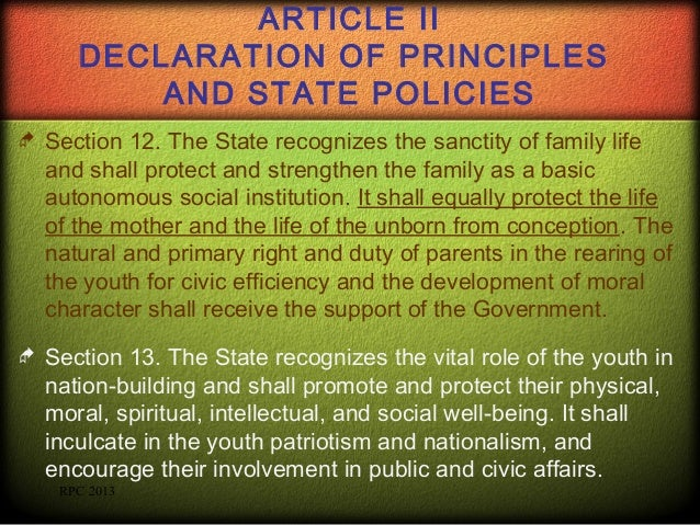 section 23 24 of declaration of principles and state policies Read this summary of article 2 of the constitution to section 1 of article 2 of the constitution section 3 of article 2 of the constitution involves state.