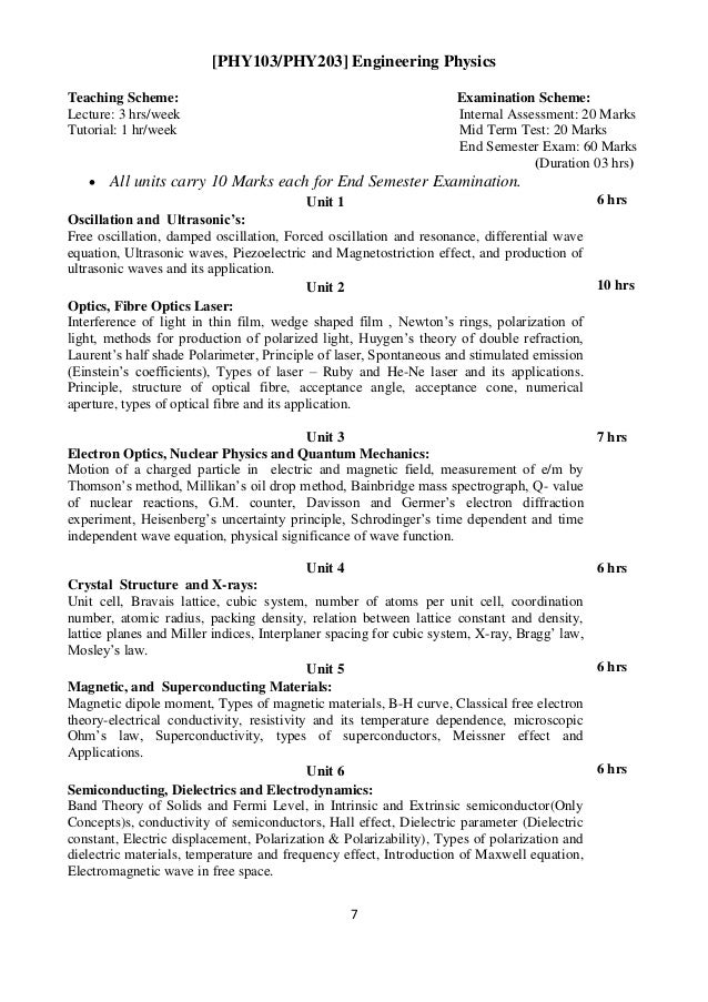 Revised first year-syllabus