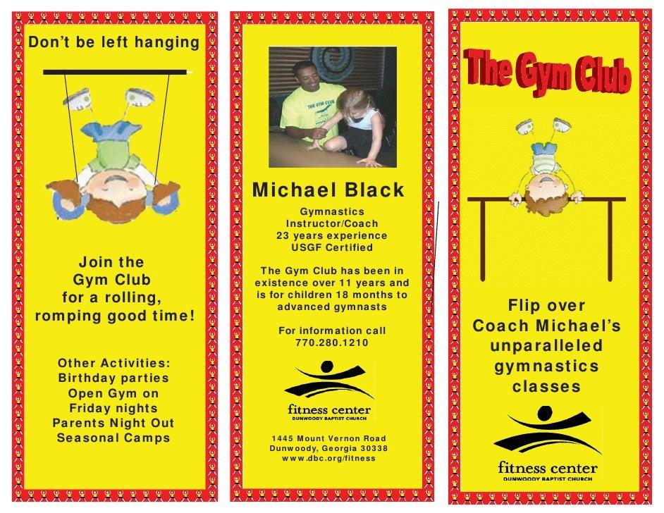 Revised Gymnastics Brochure
