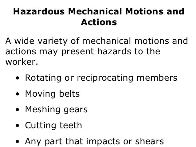 osha and machine safeguarding essay Hanover risk solutions machine guarding checklist  a general requirements for machines and machine guarding  electrical safety related work.