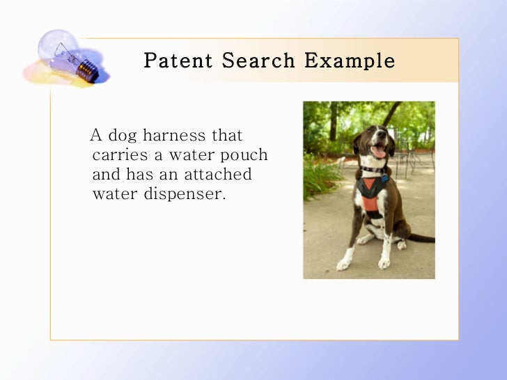 how to search for a patent