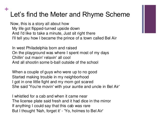Help with writing a poem that rhymes
