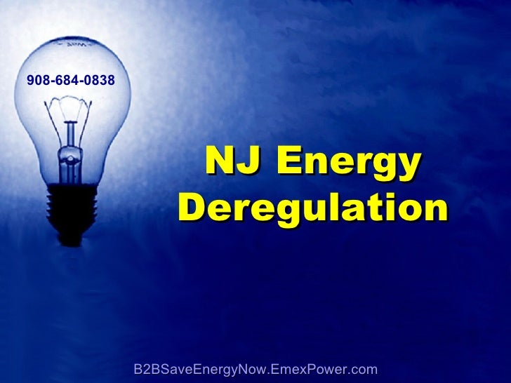 B2BSaveEnergyNow.EmexPower.com 908-684-0838 NJ Energy Deregulation