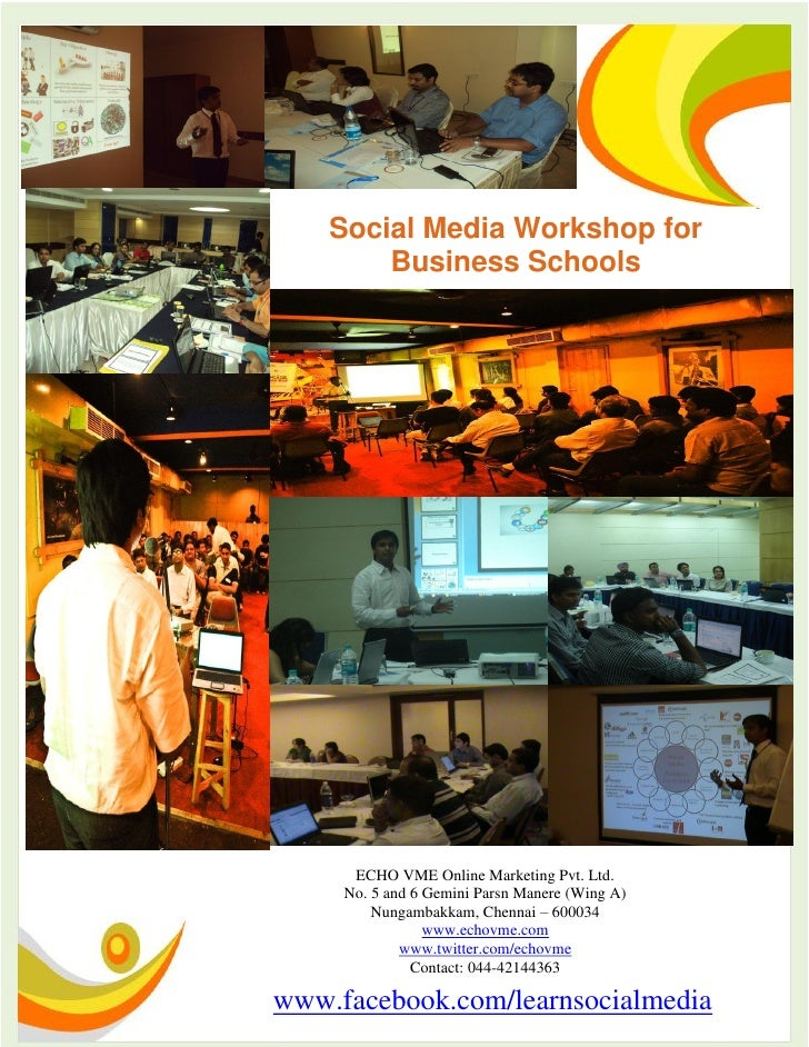 Social Media Workshop and Training for MBA / Business School Students