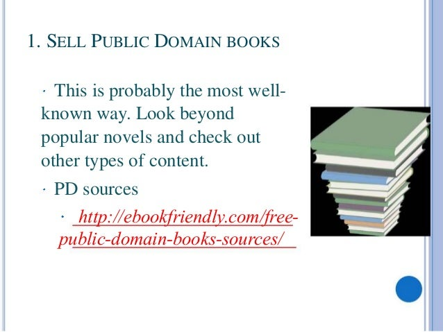3. 1. SELL PUBLIC DOMAIN BOOKS ...