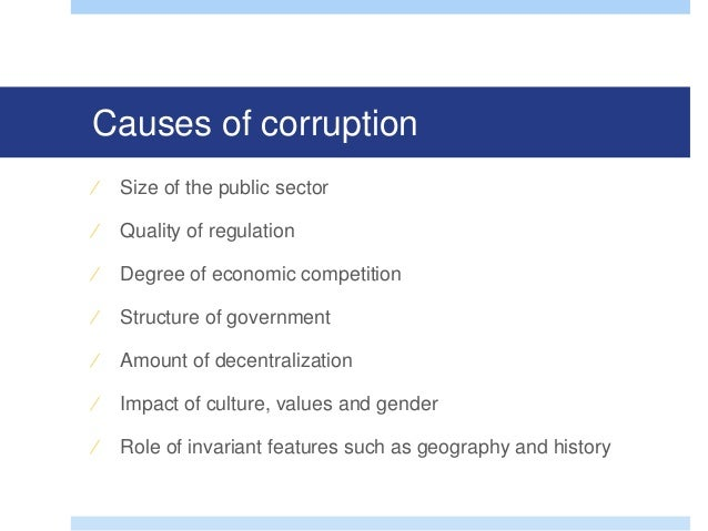 types and causes of corruption