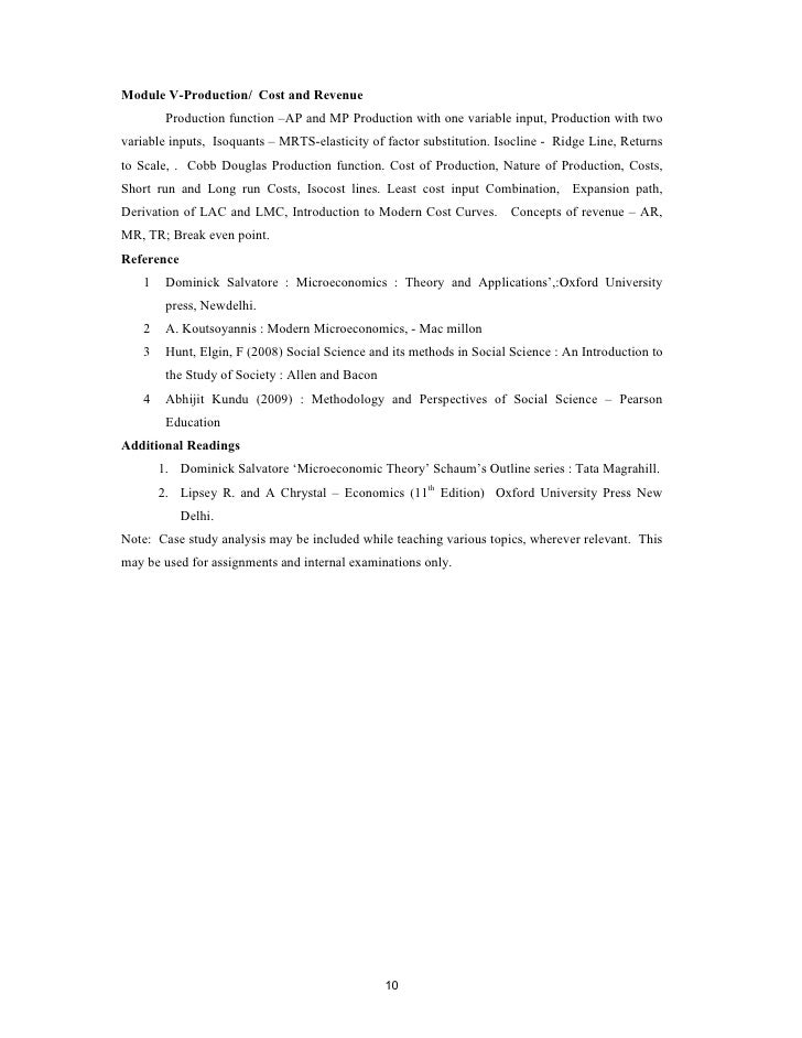 Syllabus for ba economics 9 10 fandeluxe Image collections