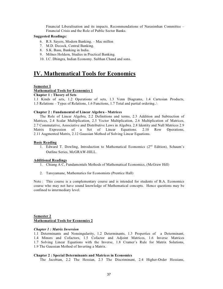 Syllabus for ba economics module 2 36 37 fandeluxe Image collections