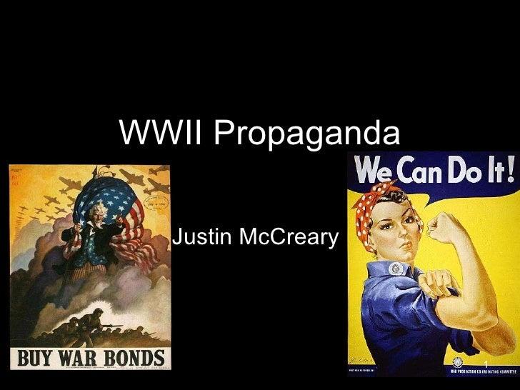 WWII Propaganda Justin McCreary