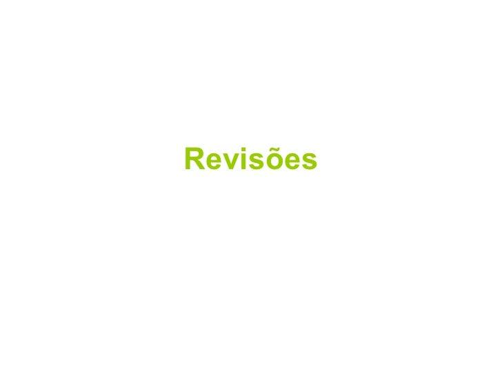 Revisões