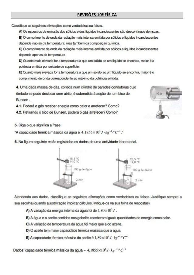 REVISÔES 10º FÍSICA